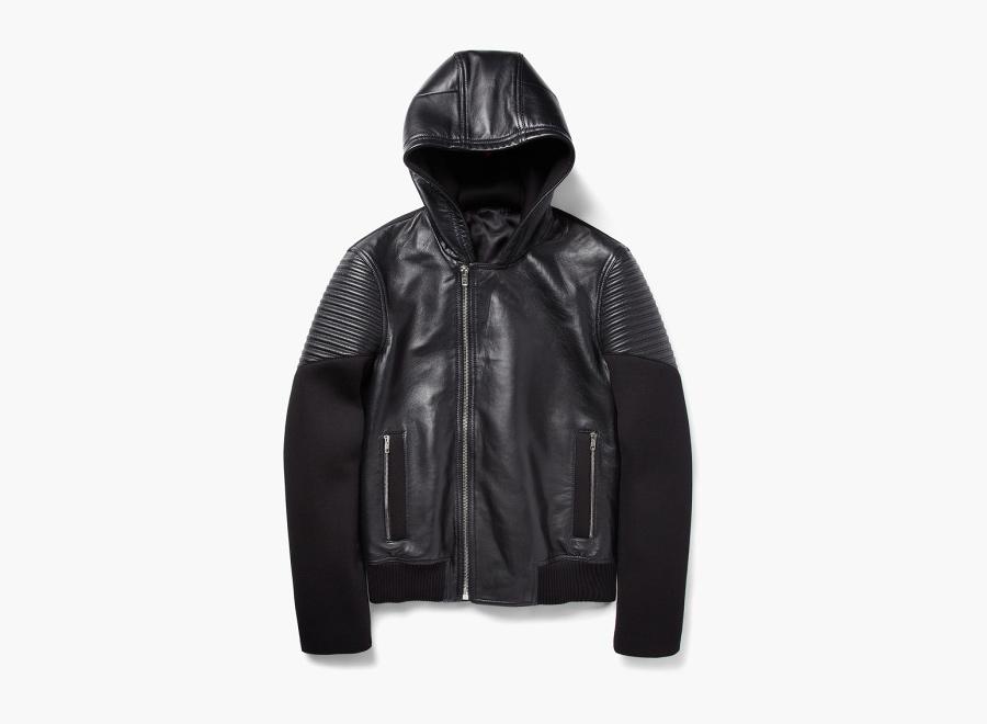 Givenchy – kožená bunda s kapucí