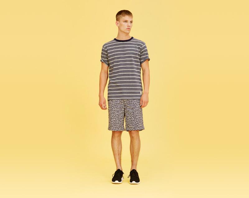 Libertine-Libertine – pánské oblečení – proužkované tričko, šortky se vzorem