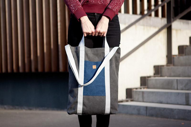 Ucon Acrobatics – taška do ruky, přes rameno, šedá, bavlněná
