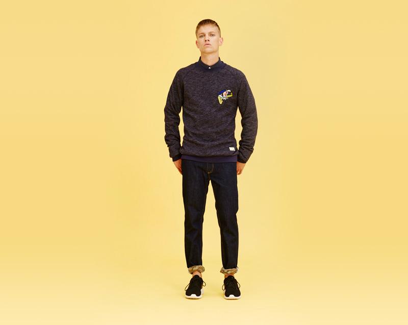 Libertine-Libertine – pánské oblečení – tmavý svetr, tmavé jeansy