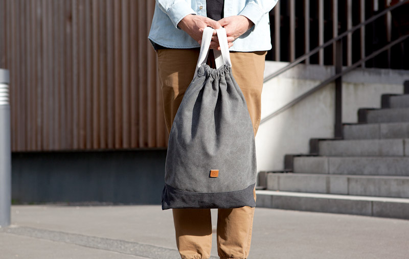 Ucon Acrobatics – bavlněný batoh na záda, šedý