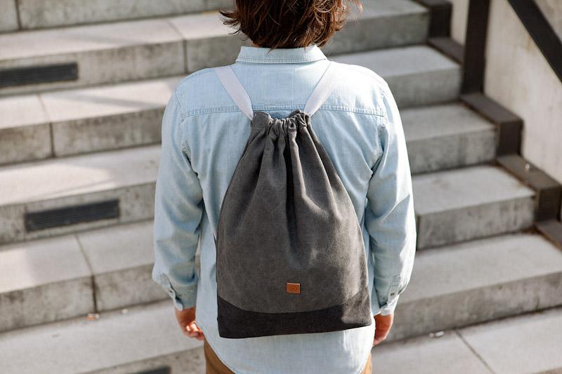 Ucon Acrobatics – stylový šedý batoh na záda, bavlněný