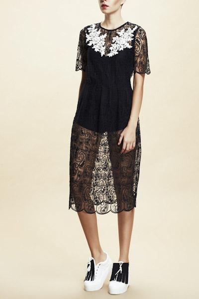Asli Filinta – krajkové letní šaty, černé