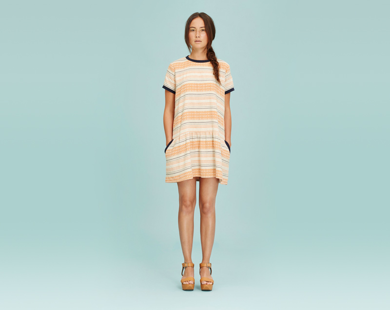 Libertine-Libertine – dámské oblečení – letní šaty, oranžové pruhy