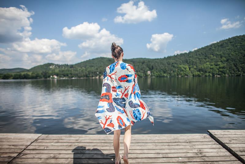 Retart – barevný šátek na krk, umělé hedvábí | Šátky na krk