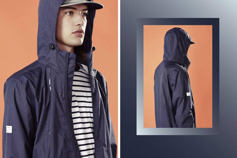 Huffer – steetové oblečení, pánská modrá bunda s kapucí