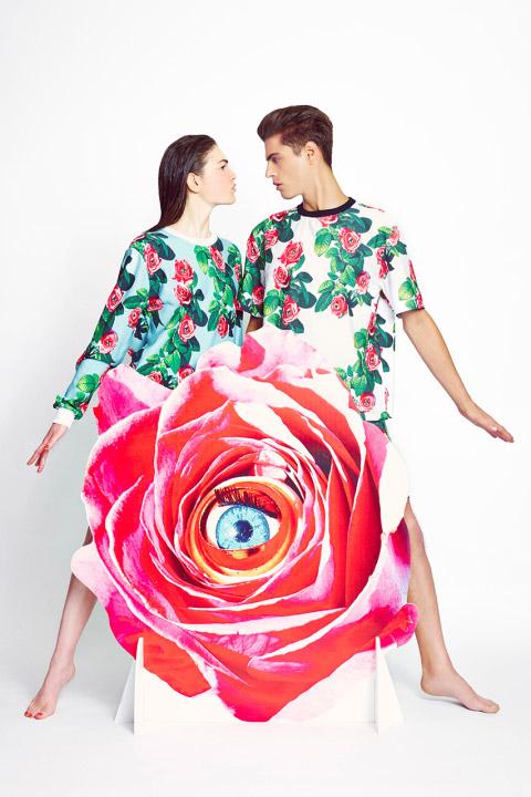 MSGM x Toiletpaper – výrazné tričko a mikina s motivy růží