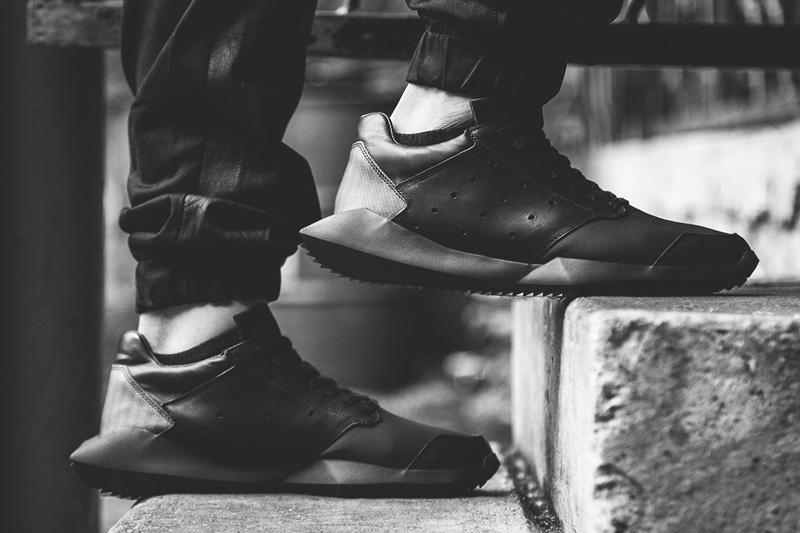 Rick Owens x adidas – Tech Runner – černé luxusní tenisky, sneakers