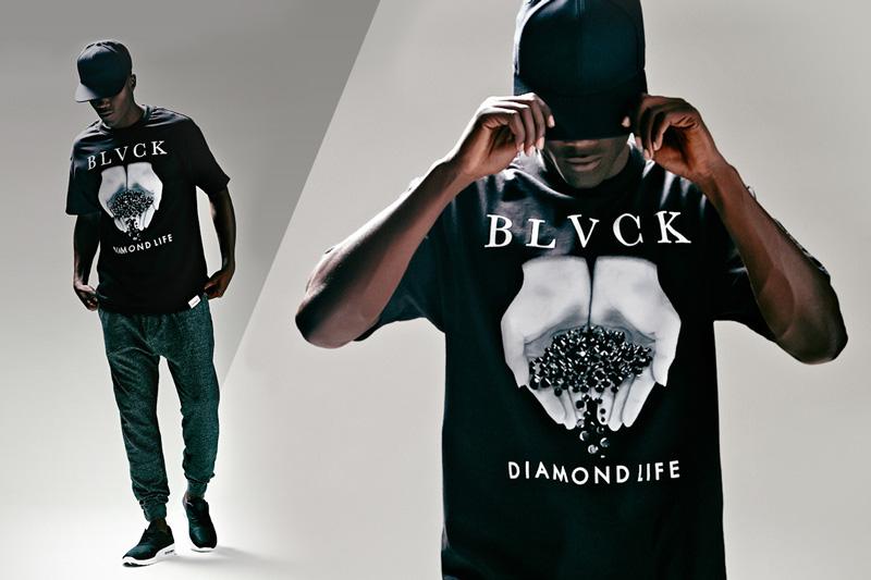 Black Scale x Diamond Supply Co. x Pac Sun – černé tričko s potiskem