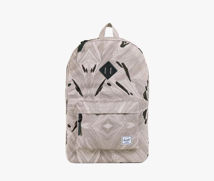 Batoh Herschel Supply – Heritage Backpack, Geo, šedý se vzorem