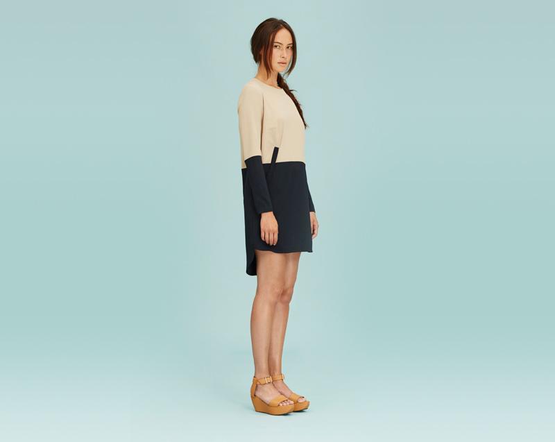 Libertine-Libertine – dámské oblečení – minimalistické letní šaty, béžovo-černé