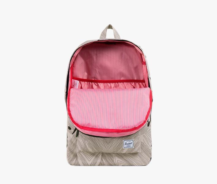 Plátěný batoh Herschel Supply – Heritage Backpack, Geo, šedý