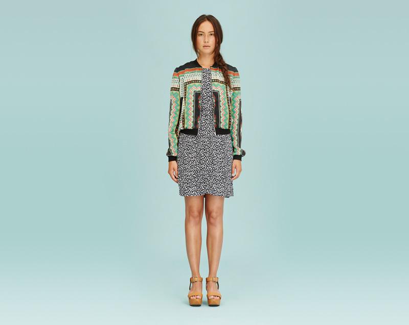 Libertine-Libertine – dámské oblečení – bunda na zip do pasu, skvrnité šaty