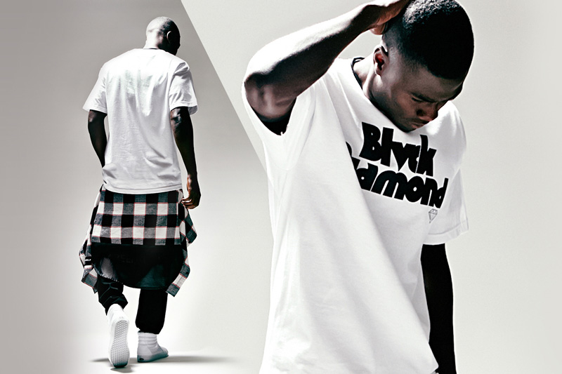 Black Scale x Diamond Supply Co. x Pac Sun – bílé tričko s potiskem