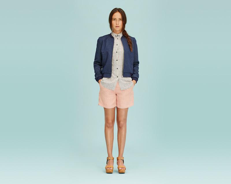 Libertine-Libertine – dámské oblečení – modrá bunda do pasu, košile, šortky