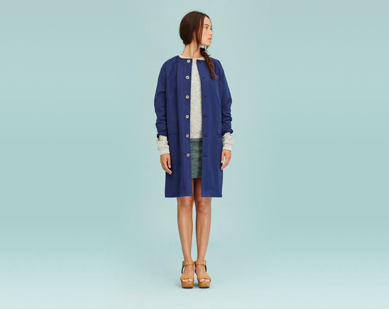 Libertine-Libertine – dámské oblečení – modrý letní kabát