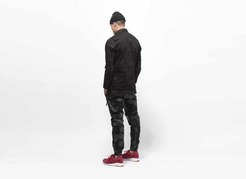 Publish – černé kalhoty, pánské, jogger ss gumou na nohavicích