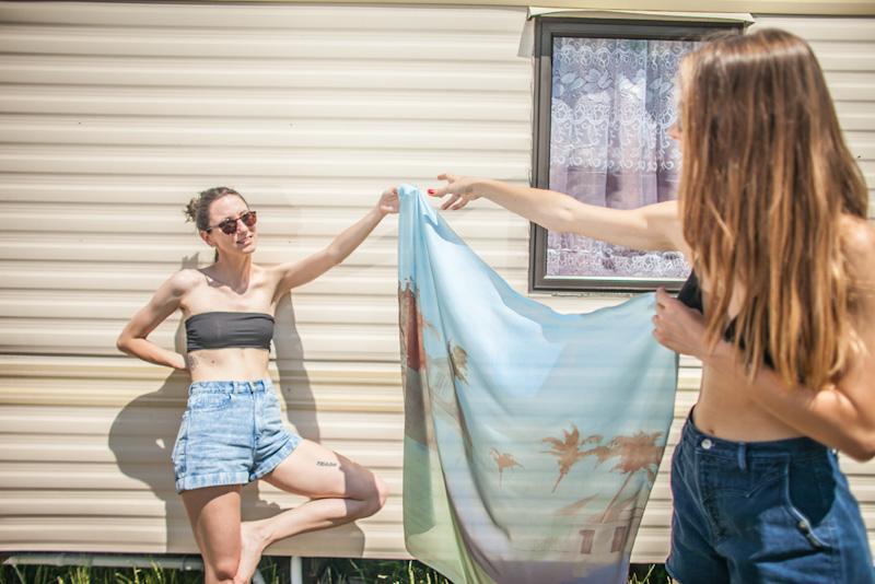 Retart – letní šátek na krk, umělé hedvábí | Šátky na krk