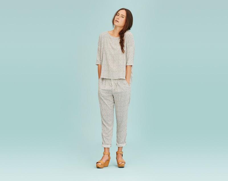 Libertine-Libertine – dámské oblečení – tričko, letní kalhoty se vzorem