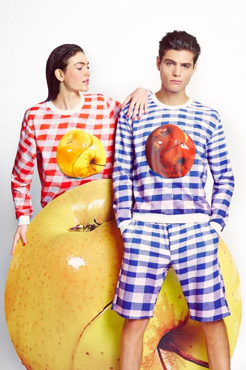 MSGM x Toiletpaper – kostkované mikiny s motivem jablka