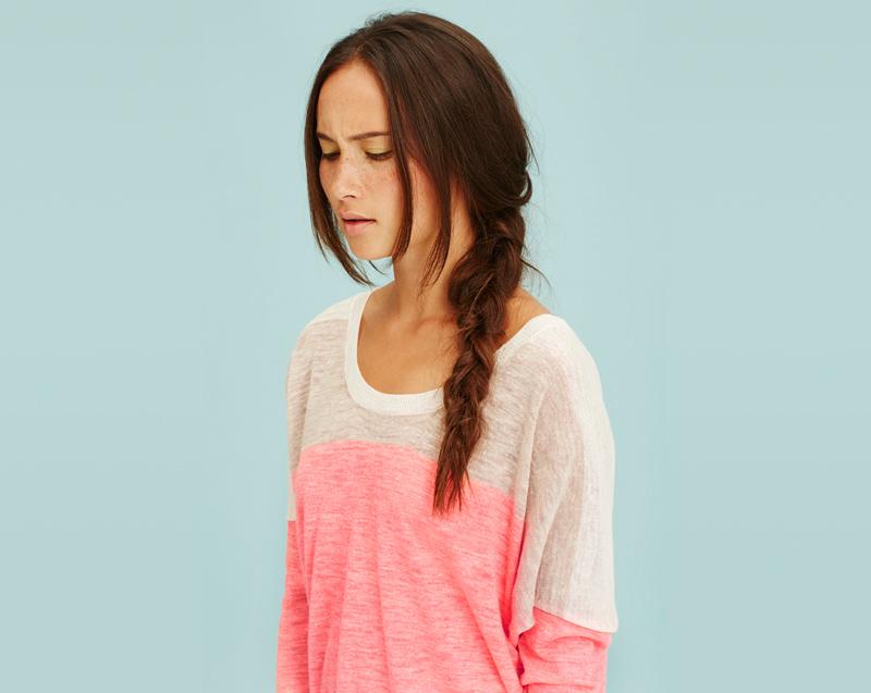 Libertine-Libertine – dámské oblečení – lehké letní tričko, bílo-růžové