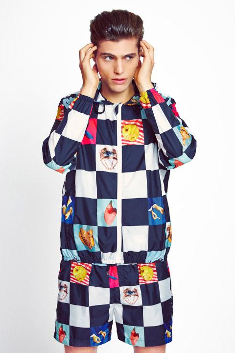 MSGM x Toiletpaper – extravagantní kostkovaná bunda do pasu s kapucí, různé motivy