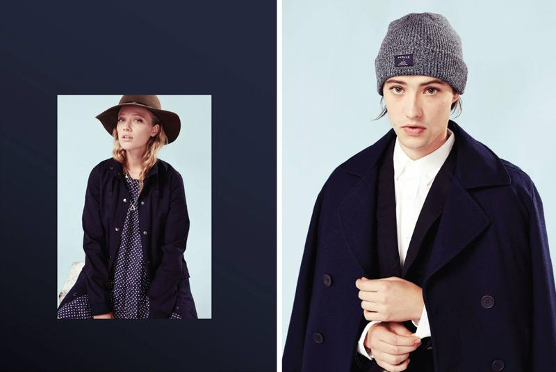 Huffer – steetové oblečení, pánský modrý kabát, dámský kabát