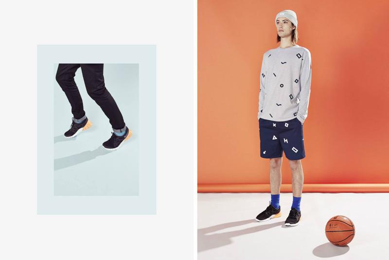 Huffer – steetové oblečení, pánská šedá mikina, šortky