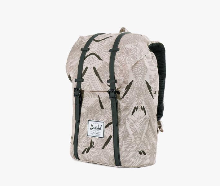 Stylový batoh Herschel Supply – Little America Backpack, Geo, šedý, vzorovaný