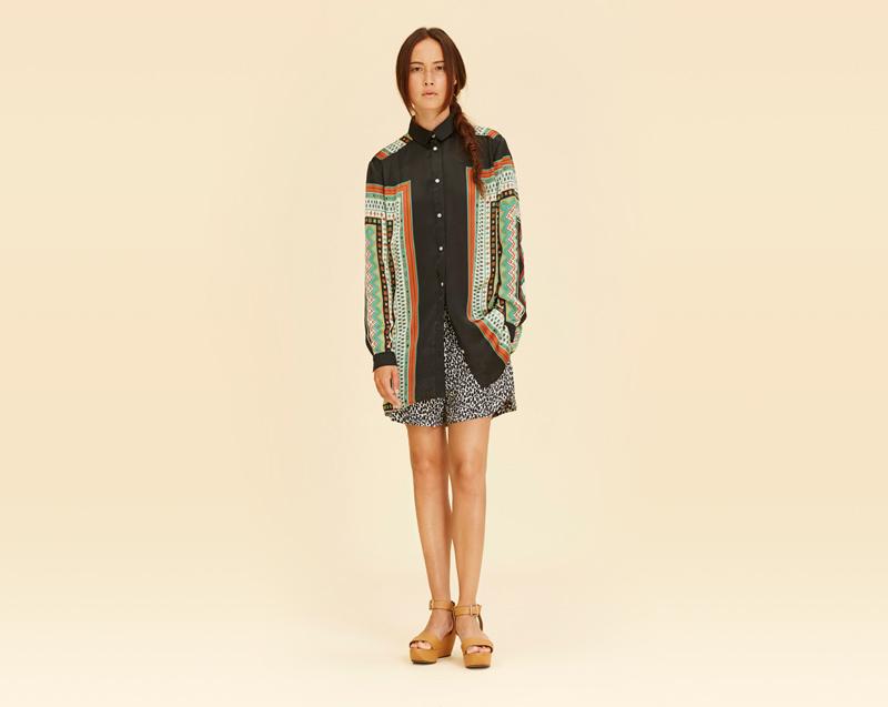 Libertine-Libertine – dámské oblečení – dlouhá košile se vzorem
