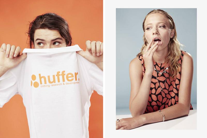 Huffer – steetové oblečení, bílé tričko, dámské šaty se vzorem