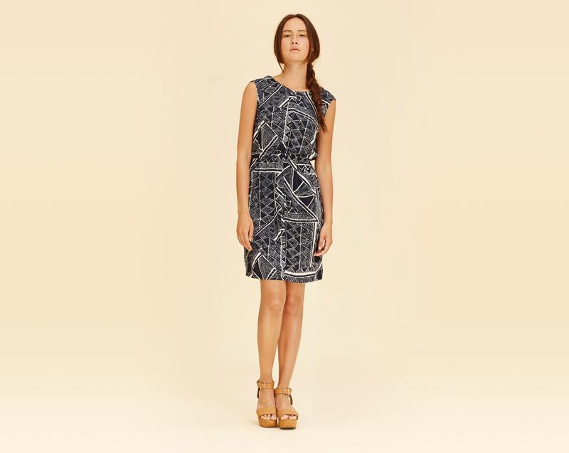 Libertine-Libertine – dámské oblečení – letní černé šaty se vzorem