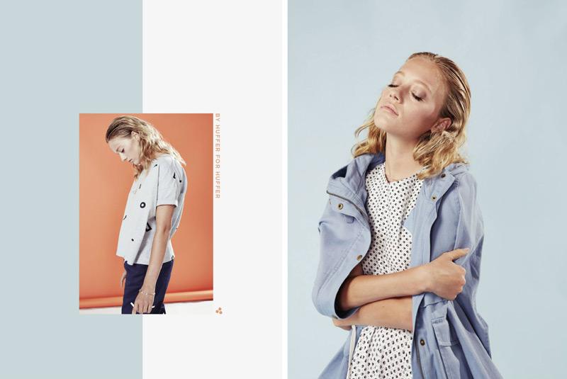 Huffer – steetové oblečení, dámské tričko, bledě modrá bunda