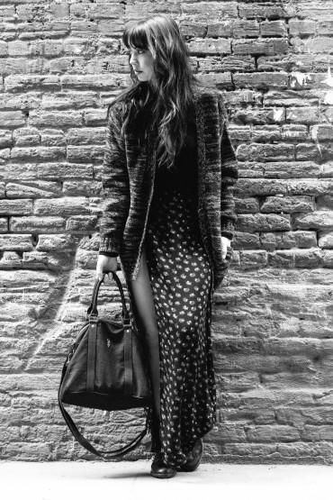 Obey – dámský dlouhý vzorovaný svetr na zip, dlouhá sukně se vzorem | Dámské oblečení – podzim/zima 2014