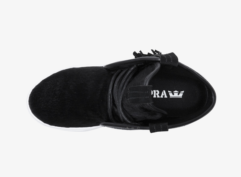 Supra Western – černé dámské boty, kotníkové boty, vysoké tenisky, sneakers