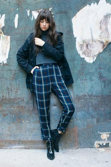Obey – dámská podzimní parka – tmavě modrá, dámské kostkované kalhoty nad pas | Dámské oblečení – podzim/zima 2014
