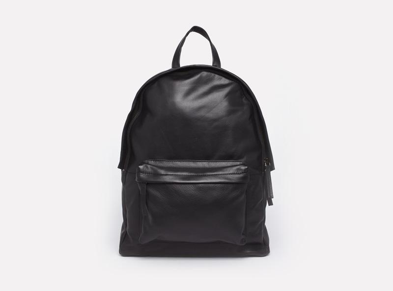 Asos Black – stylový černý kožený batoh na záda