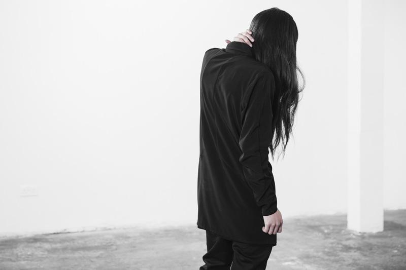 Represent Clothing – dlouhá černá košile na zip