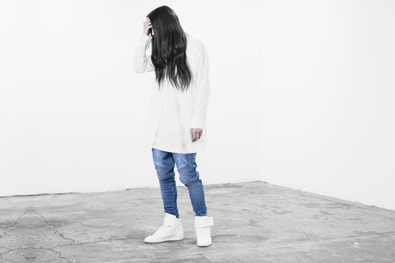 Represent Clothing – dlouhá bílá košile na zip