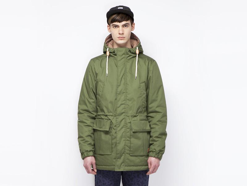 Ucon Acrobatics – pánská zimní bunda s kapucí, zimní parka, zelená | Pánské značkové oblečení