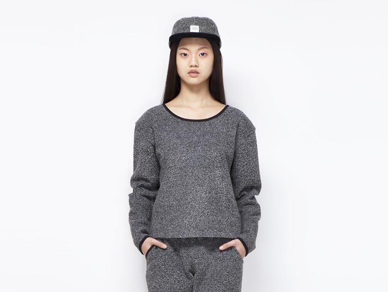 Ucon Acrobatics – dámský svetr šedý, melírový | Dámské značkové oblečení
