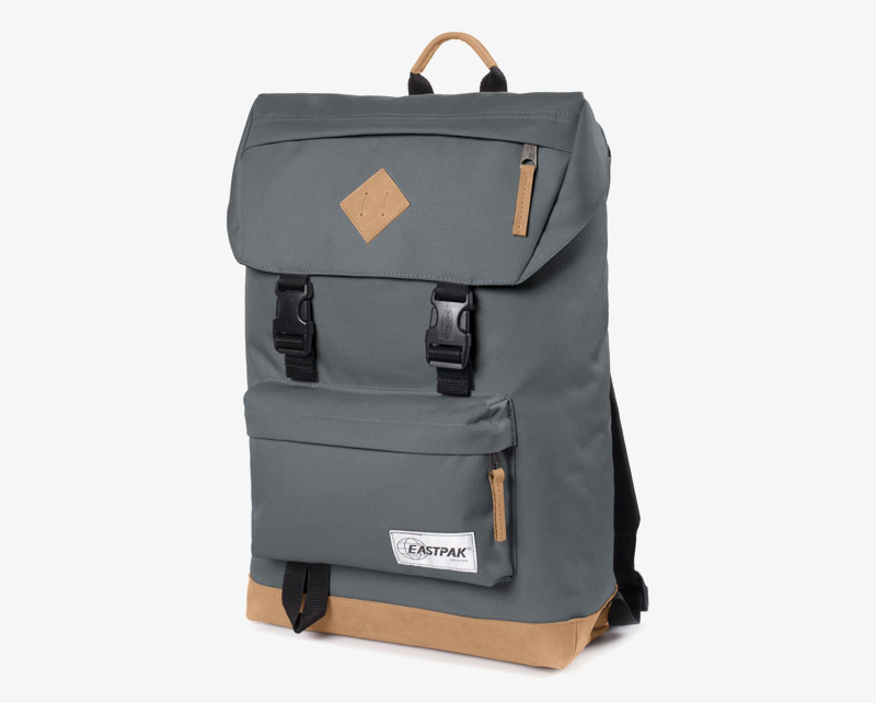 Eastpak Rowlo – plátěný batoh tmavě šedý, stylový batoh | Plátěné batohy na záda