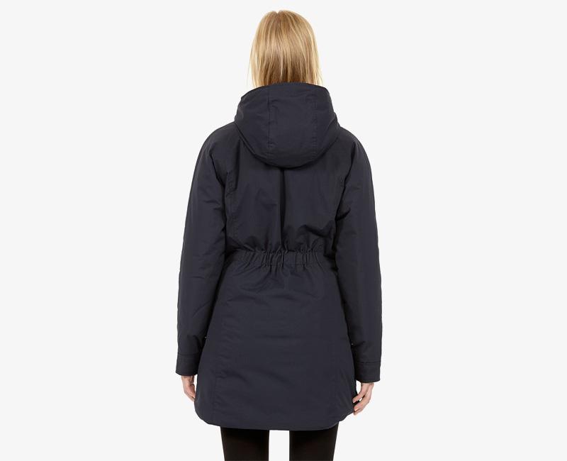 Elvine – dámská zimní bunda s kapucí, zimní parka s kapucí, tmavě modrá, Caterina | Dámské zimní bundy a parky