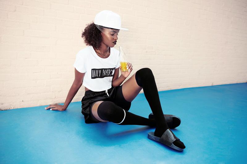 Daily Paper – dámské krátké tričko, bílé, top
