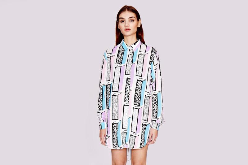 Lazy Oaf – dámská dlouhá košile s dlouhým rukávem s grafickými symboly | Dámské oblečení