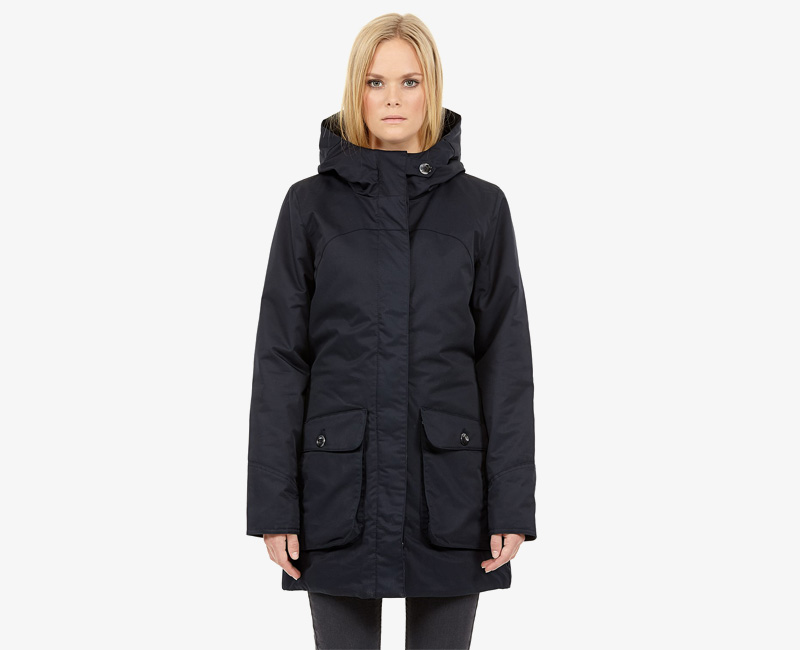 Elvine – dámská zimní bunda s kapucí, zimní parka s kapucí, tmavě modrá, Cornelia | Dámské zimní bundy a parky