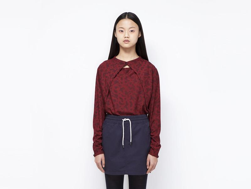 Ucon Acrobatics – dámská červená košile se skvrnami | Dámské značkové oblečení