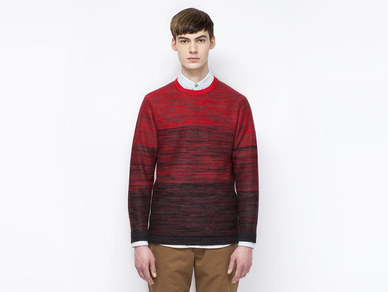 Ucon Acrobatics – pánský svetr šervený, se vzorem | Pánské značkové oblečení