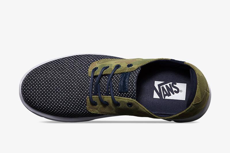 Vans Prelow – maskáčové boty, zelené, černé s tečkami, tenisky, sneakers, pánské a dámské