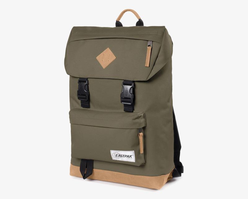 Eastpak Rowlo – plátěný batoh zelený (olivový), stylový batoh | Plátěné batohy na záda